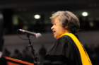 Christine Mann Darden delivers the commencement address for the 9:00 a.m. ceremony on December 15, 2012