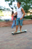 Student Skateboards Around Campus