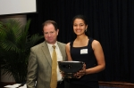 President Broderick and Kaufman Award Winner